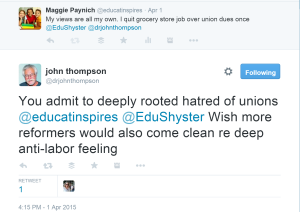 hatred of unions